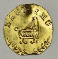 UNIQUE 1882 California Fractional Gold - Baptism Gold Token. Pop 1 Never seen