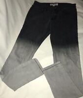 Jet Hot Topic Size 5 Black Ombre Skinny Stretch Jeans Lightning Bolt Pocket