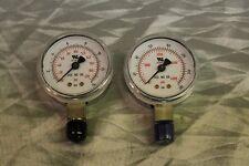 "Pressure Gauge Set Inlet Outlet 4000Psi & 200Psi Dual Scale Psi/Bar 2"" Lm 1/4""M"