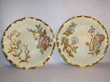 Fabulous pair of ROYAL WORCESTER Cabinet Plates. Gilded Floral design. CIRCA1888