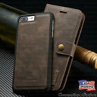 iPhone 8/7/6S Plus Leather Magnetic Flip Cover Removable Wallet Card Slot Case
