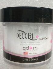 ADORO DECORI ACRYLIC SCULPTING POWDER CLEAR MADE IN USA 2oz for acrylic nails