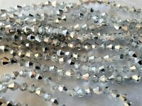 Joblot 10 strings (1200 beads) 4mm White Clear full AB Bicone Crystal beads new