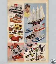 1959 PAPER AD 2 PG 280 MM Atomic Powered Cannon Toy Outboard Motor Boats Wizard