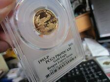 GOLD -  GOLD EAGLE  PR-69DCAM  PCGS  $10.00  1993-P  1/4 OZ GOLD  REAGON SERIES