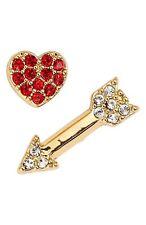 NWT $48 Kate Spade New York love list heart & arrow mismatched stud earrings WOW