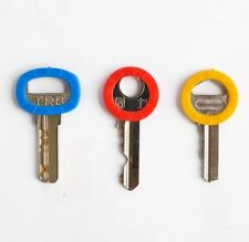 Set Of 9 Silicone Key Ring Cap Indicator Cover Assorted Color