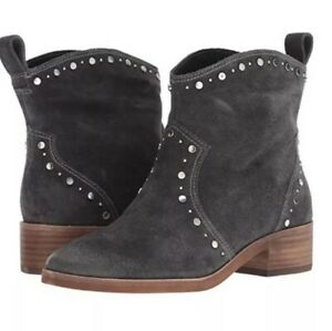 Dolce Vita Tobin Studded Ankle Bootie 7.5 Suede Boho Western Cowgirl Boots NIB