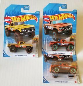 Hot Wheels '70 Dodge Power Wagon 2/10 Baja Blazers LOT OF 3- 2 color variations