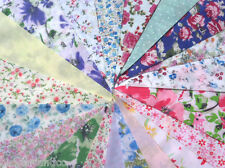 Fabric Bunting Wedding 40ft Vintage Shabby Handmade flower chic Garden 1 metre
