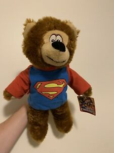"""NEW DC Super Friends 14"""" Superman Teddy Bear Plush by Toy Factory, DC Comics NWT"""