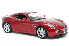 Welly 1/18 Scale Alfa Romeo 8C Competizione Red Diecast Car Model 18013