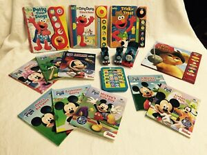 Elmo, Mickey Mouse, Kids, Books Collections, Little Train And Electronic Toy.: