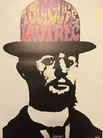 Rare Vintage Peter Max Psychedelic Art Pop Toulouse Lautrec Poster BW print