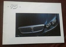 Rover 75 Saloon 1998-99 UK Market Preview Sales Brochure