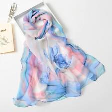 Fashion Women Long Soft Scarf Elegant Girls Floal Chiffon Scarves Wrap Shawls