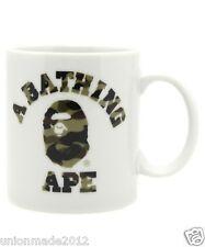 Bape LOGO 1ST GREEN CAMO COLLEGE MUG CUP DRINK APE HEAD A BATHING APE Authentic