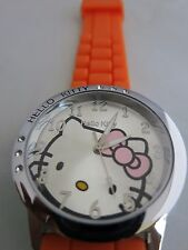 BRAND NEW HELLO KITTY ORANGE SILICONE WATCH