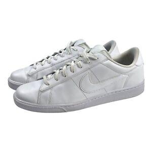 Nike Mens Tennis Classic CS White Low Lace-Up Shoe 683613-104 Size 11.5