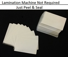 100 Pack Autoadesivo freddo Seal laminazione BUSTE Business & ID Card - 66X98MM