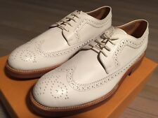 Tod's Bianco Wingtip Derby Bucatore Scarpe Misura Us 10.5 Made in Italy