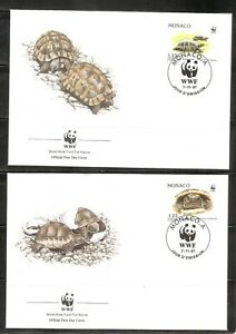 Monaco SC # 1778-1781 Turtles FDC. World Wide Fund Covers