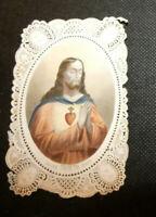 image pieuse canivet dentelle couleur sacre coeur de jesus / bes et dubreuil