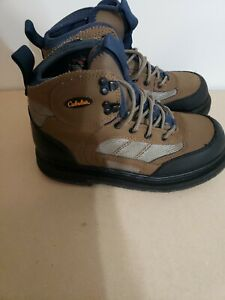 cabela's Boots Size 8m  Thick Sole Hiking Hunting Work Boots Men Tan Brown cleet