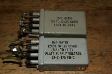 2 super rare 1950's western electric input output transformers tube amp stereo