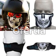 MASCARA BRAGA NEOPRENO CALAVERA Airsoft Skull Mask Neoprene Bici Moto Ghost C
