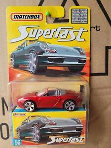 MATCHBOX 2006 SUPERFAST - PORSCHE BOXSTER [DARK RED] NEAR MINT VHTF CARD GOOD