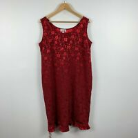 Womens Dress One From The New Zealand Size Large Red Floral Sleeveless