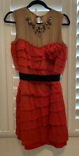LANVIN x H&M Red Silk Cocktail Dress- US 8
