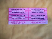 Foreigner 4 Title Strip - Feels Like The First Time - Woman Oh Woman - NEW