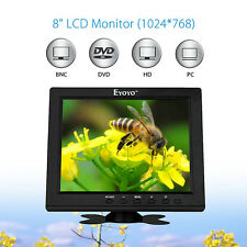 "Portable 8""TFT LCD Color HD Monitor Screen VGA BNC Vedio HDMI Input For PC CCTV"