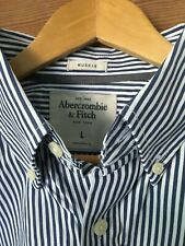 Para hombre Abercrombie & Fitch Músculo a rayas en azul marino/Blanco Shirt, L 42""