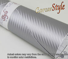 3D Carbon Fibre Vinyl 200mm(7.9in)x 1520mm(59.8in) Wrap Film Sticker Bubble Free