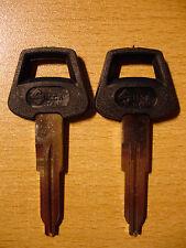 2 Schlüsselrohlinge für INNOCENTI J 4, J 5, JM 3, REGENT 1300, 1500