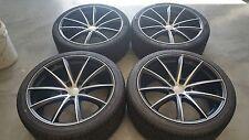 """22"""" Ace Convex Matte Black Machine Face Wheels Tires 5x120 BMW Range Rover Rims"""