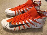 Nike Men's Alpha Menace Elite Football Lacrosse Cleat Size 13 Orange White