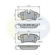 Comline CBP01759 Brake Pad Set Rear 34216778327 34216778327 34216794059