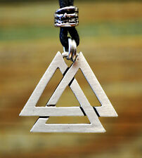Valknut Necklace on Cord | Viking Jewelry | Norse Pendant | Nordic Accessories
