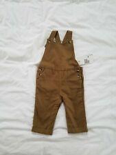 H&M Baby Brown Overalls Gender Neutral NWT 3-6 Months Boy Girl