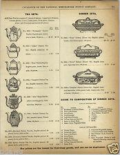 1892 Paper Ad Meakin's China Pottery Tea Sets Normandy Alpha Kent Invica Alex