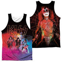 KISS COLORED SMOKE Licensed Men's Graphic Tank Top Sleeveless Band Tee SM-3XL