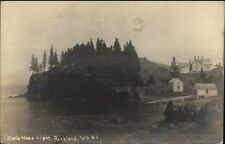 Rockland ME Owls Head Lighthouse c1915 Real Photo Postcard