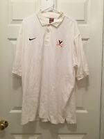 Virginia UVA Cavaliers Basketball Team Issued Nike Fit Dry White Polo 2XL