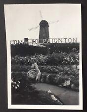 PHOTOGRAPH Paignton - Windmill & Sign 1953 Devon 8 cm x 5.5 cm 1300