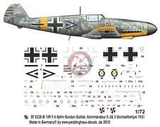 Peddinghaus 1/72 Bf 109 F-4 Markings Gordon Mac Gollob Stab II./JG 3 Russia 2238