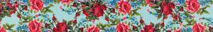 Country Brook Design® 5/8 Inch Vintage Roses Polyester Webbing, 20 Yards